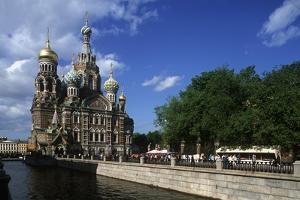 Russia, Saint Petersburg, Church of the Resurrection of Christ Along Griboedov Canal