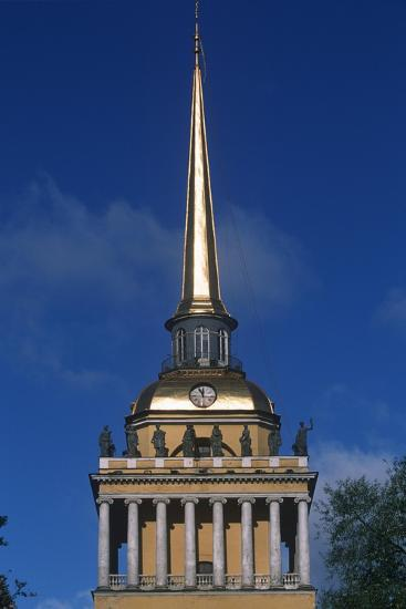 Russia, Saint Petersburg, Historic Centre, Admiralty Building, Detail of Tower--Giclee Print