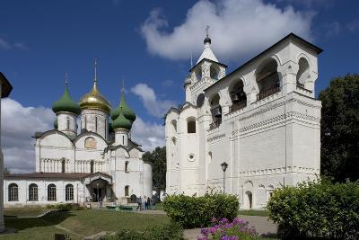 Russia, Suzdal, Transfiguration Cathedral and Gabled Belfry--Giclee Print