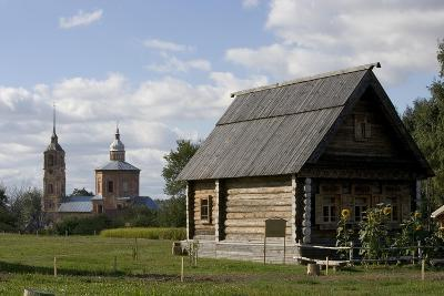 Russia, Suzdal, Wooden Buildings--Giclee Print