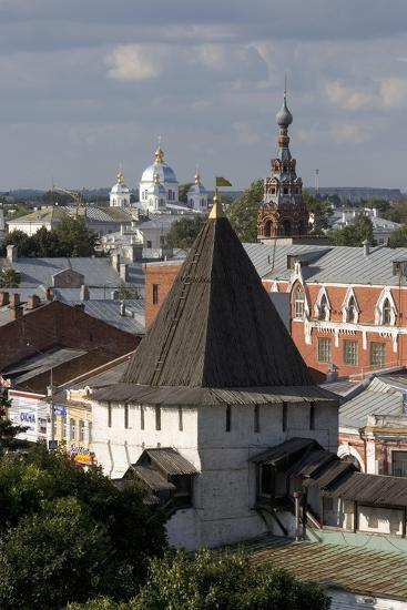 Russia, Yaroslavl, Townscape with Churches and Rooftops--Giclee Print