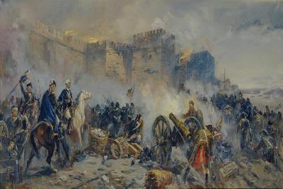 Russian Army Captured Izmail Fortress-Fyodor Pavlovich Usypenko-Giclee Print