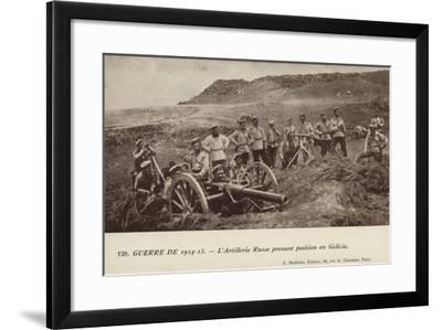 Russian Artillery Position in Galicia, World War I--Framed Photographic Print