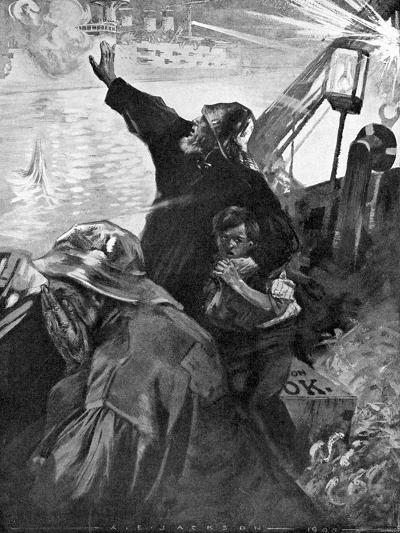Russian Baltic Fleet Attacking Fishing Boats, Russo-Japanese War, 1904-5--Giclee Print