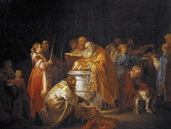 Russian Baptism, 1765-Jean-Baptiste Le Prince-Giclee Print