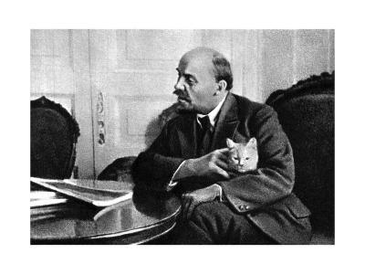 Russian Bolshevik Leader Vladimir Ilich Lenin in His Kremlin Appartment, Moscow, Russia, 1920--Giclee Print