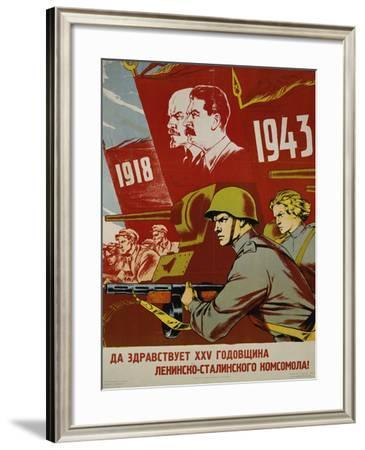 Russian Communist Poster, 1943--Framed Giclee Print