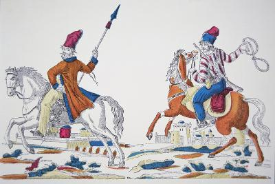 Russian Cossacks at the Time of Napoleon's Invasion of 1812--Giclee Print