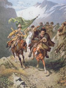 Cossacks of the Caucasus Return from a Raid on a Settlement of Muslim Cossacks by Russian