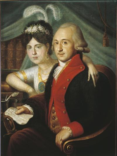Russian Couple of Nobles from Province, around 1790--Giclee Print