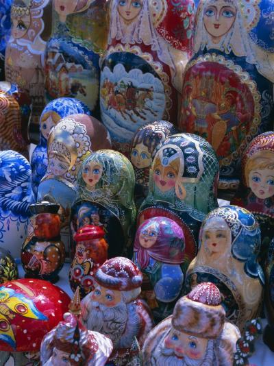 Russian Craft Dolls for Sale, Moscow, Russia, Europe-Gavin Hellier-Photographic Print