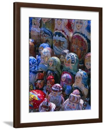 Russian Craft Dolls for Sale, Moscow, Russia, Europe-Gavin Hellier-Framed Photographic Print