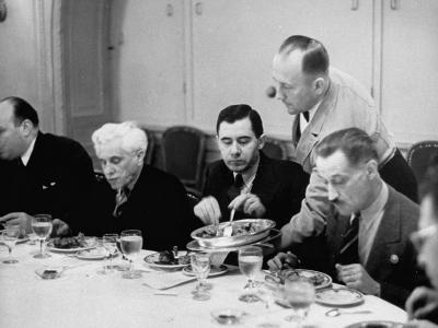 Russian Delegate Andrei A. Gromyko, Getting More to Eat from the Waiter--Photographic Print