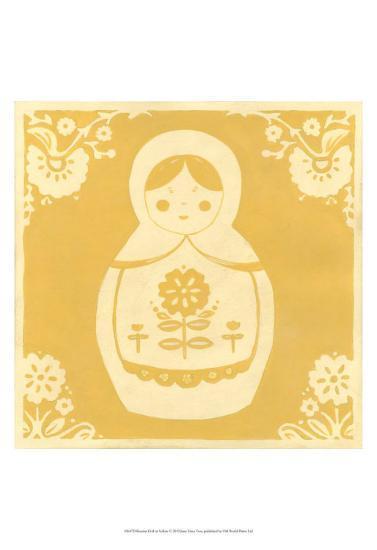 Russian Doll in Yellow-Erica J^ Vess-Art Print