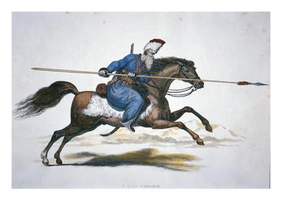 Russian Don Cossack, C.1820 (W/C on Paper)-T. Kelly-Giclee Print