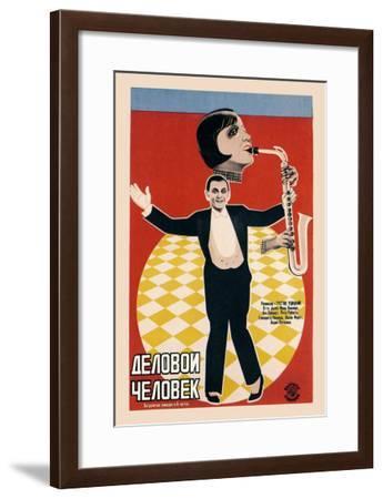 Russian Entertainers--Framed Art Print