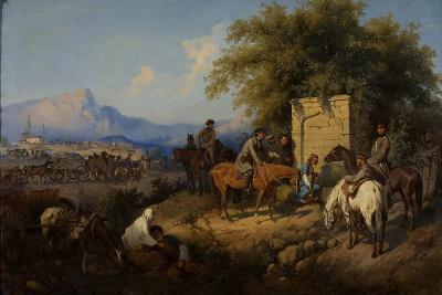 Russian Forces Crosses the Caucasus Mountains in Adjara, 1872-Gottfried Willewalde-Giclee Print