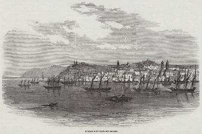 Russian Gun-Boats Off Galatz--Giclee Print