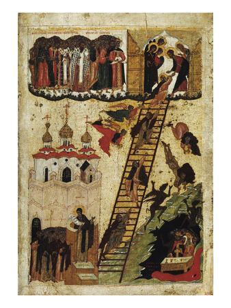 Heavenly Ladder of St. John Climacus (Tempera on Panel)
