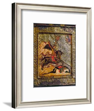 Russian Icon: Demetrius--Framed Photographic Print