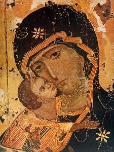 Icon (Oil on Wood Panel) by Russian