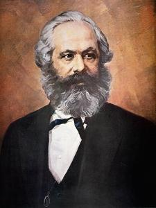 Karl Marx (Colour Litho) by Russian