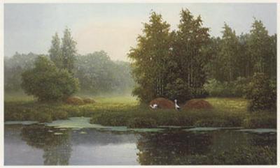 Russian Landscape with Storcks-Igor-Art Print