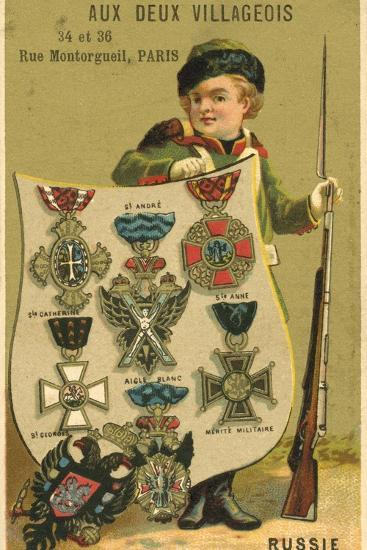 Russian Medals--Giclee Print