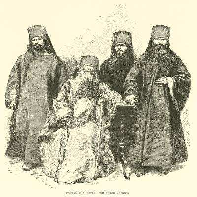 Russian Minorites, the Black Clergy--Giclee Print