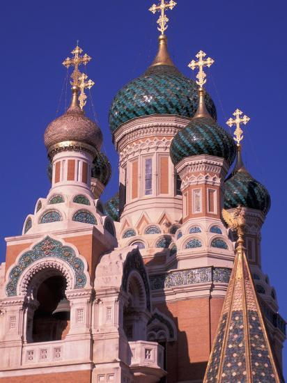 Russian Orthodox Cathedral in Nice, Cote D'Azur, France-Nik Wheeler-Photographic Print