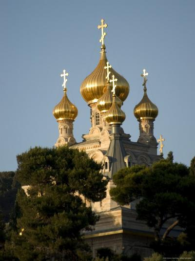 Russian Orthodox Church of Mary Magdalene, Mount of Olives, Jerusalem, Israel, Middle East-Christian Kober-Photographic Print