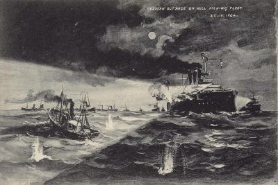 Russian Outrage on the Hull Fishing Fleet, 22 October 1904--Giclee Print