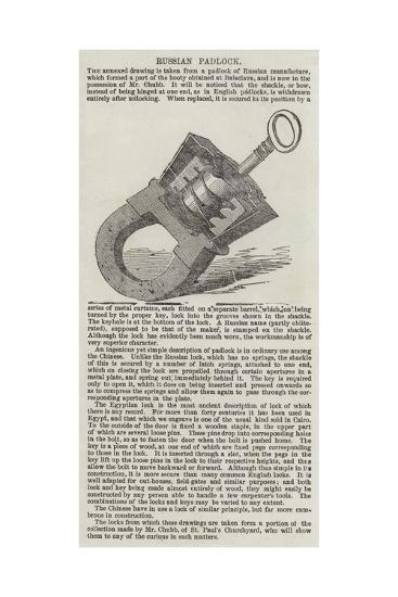 Russian Padlock--Giclee Print