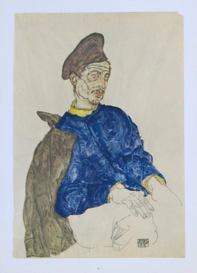 Russian Prisoner of War, 1914-Egon Schiele-Collectable Print