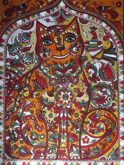 Russian Red Cat-Oxana Zaika-Giclee Print