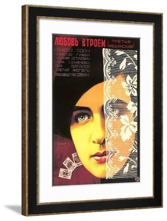 Russian Romance Film Poster--Framed Art Print