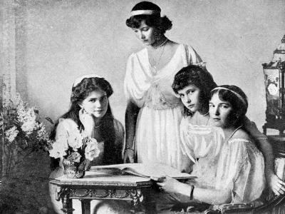 Russian Royal Ladies, Tsarkoe Military Hospital, 1914--Giclee Print
