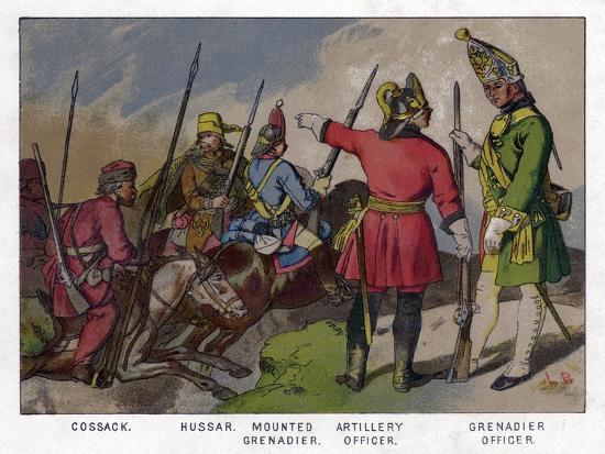 Russian Soldiers of 1760 (19th Centru)--Giclee Print