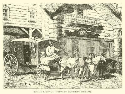Russian Tarantass, Springless Travelling Carriage--Giclee Print