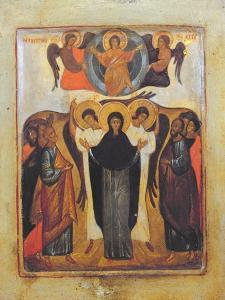 The Ascension (Tempera and Gold Leaf on Panel) by Russian