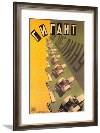 Russian Tractor Film Poster--Framed Art Print