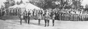 Russian Troops Saluting Tsar Nicholas II, Krasnoye Selo, 22 July, 1914