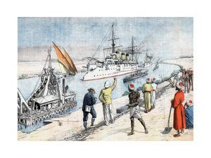 Russian Warships Passing Through the Suez Canal, Russo-Japanese War, 1904-5