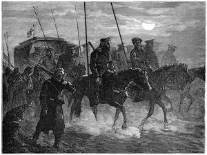 Russian Wounded Leaving Plevna, Russo-Turkish War, 1877-1878