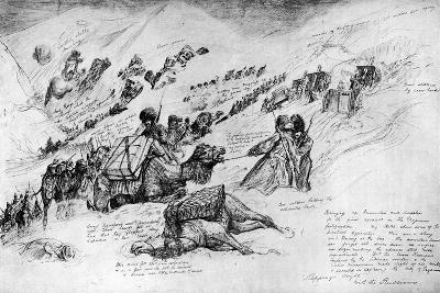 Russians Bringing Up Guns and Ammunition for the Assault at Erzrum, 1916--Giclee Print