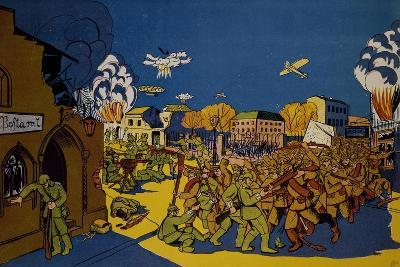 Russians Capturing German City of Elk in East Prussia, 1914, World War I, Poland--Giclee Print