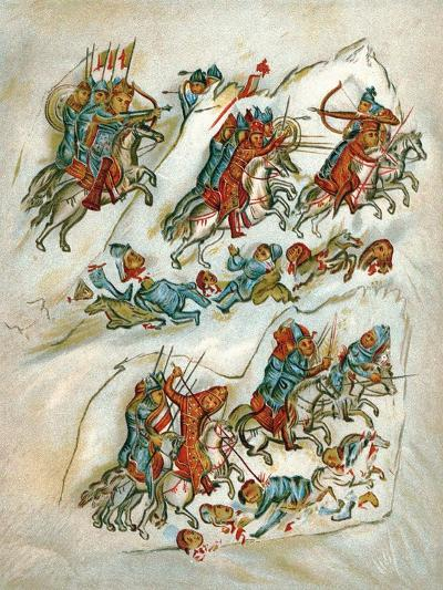 Russians Routing Bulgarians in a Cavalry Skirmish--Giclee Print