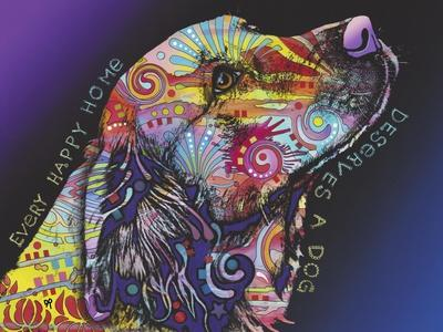 Every Happy Home, Deserves a Dog, Pets, Dogs, Purple fade, Looking up, Animals, Pop Art, Stencils