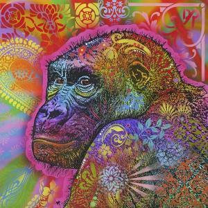 Gorilla, Monkeys, Chimp, Pop Art, Animals, Looking over your shoulder, Stencils, Colorful by Russo Dean