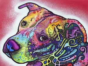 How I See It, Dogs, Pets, Animals, Pink, White, Colorful, Waiting, Pop Art by Russo Dean